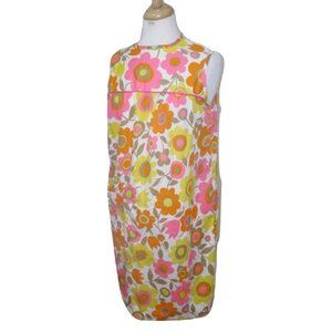 Penneys Gaymode 70s Flower Power Nightgown Dress